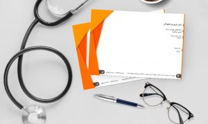 نسخه پزشک نارنجی رنگ
