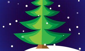 وکتور درخت کریسمس