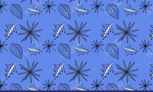 پترن برگ آبی رنگ