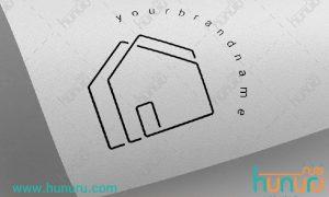 طرح لایه باز لوگوی خانه